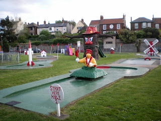 Crazy Golf course at Pops Meadow in Gorleston on Sea