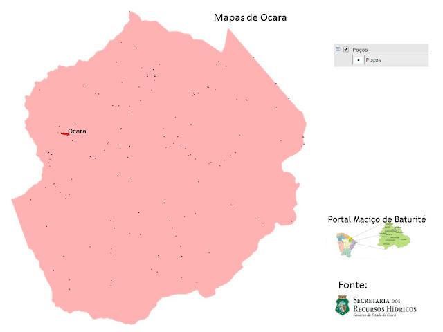 Mapas de Ocara - Poços