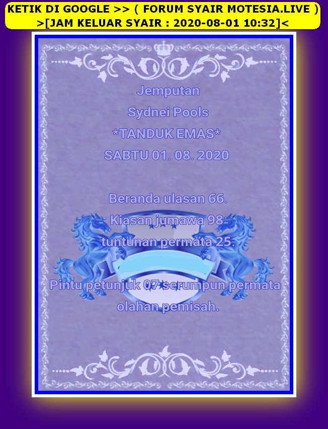 Kode syair Sydney Sabtu 1 Agustus 2020 55