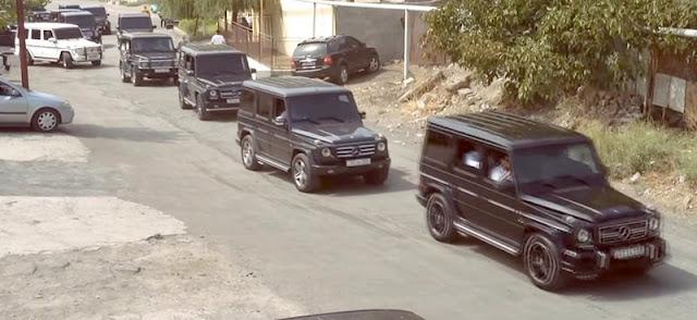 黒塗りベンツの大名行列。!アルメニアの結婚式の車列が高級車だらけで怖すぎる。