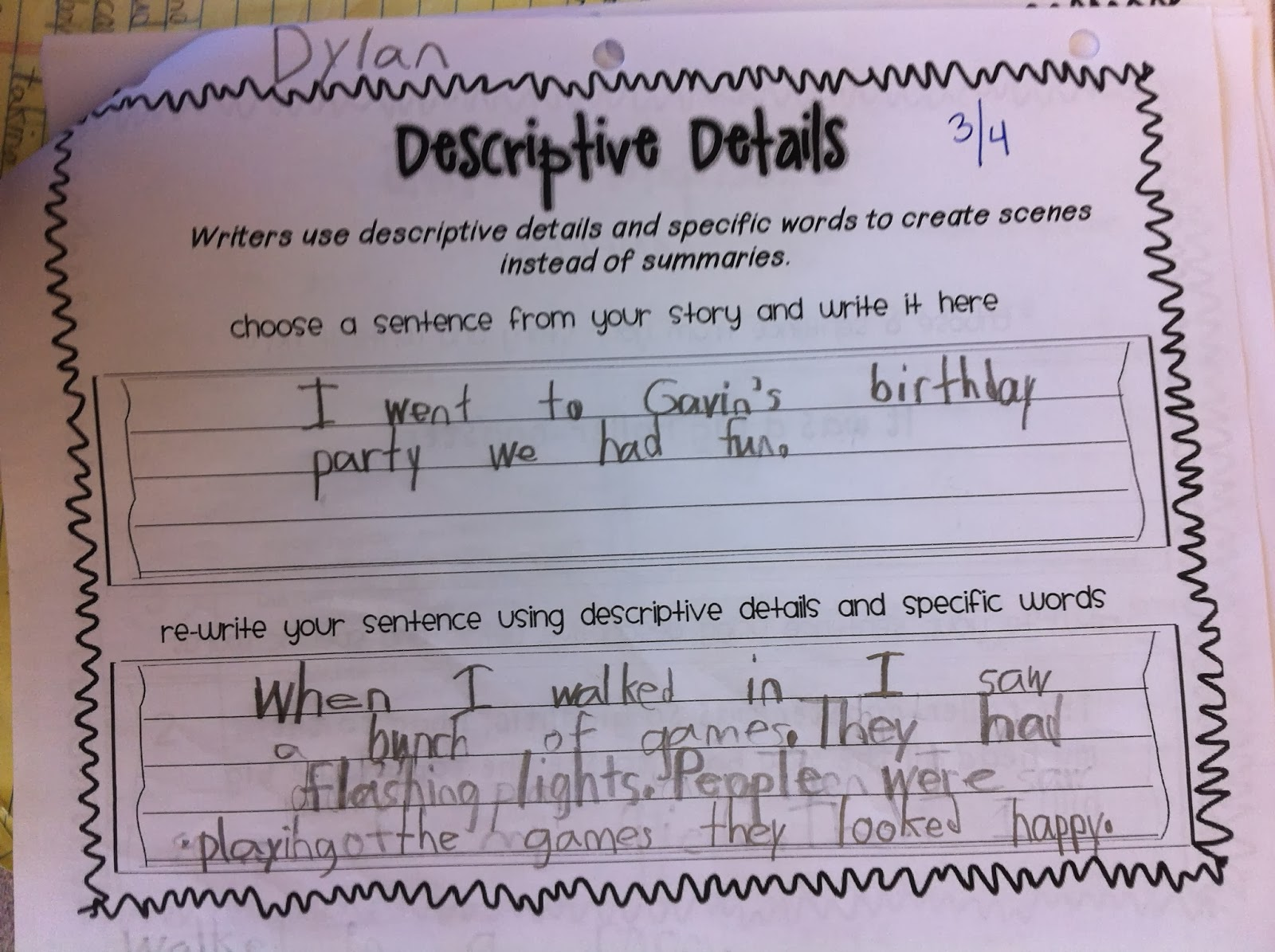 moving to a new school personal narrative