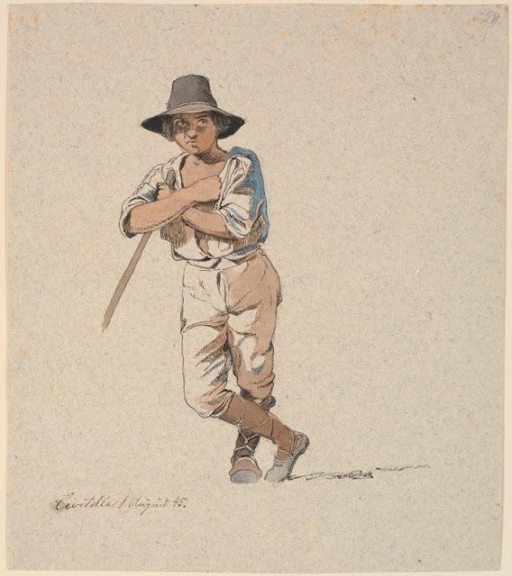 Johan Thomas_Lundbye: Stående hyrdedreng (1845)