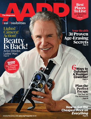 Warren Beatty on AARP The Magazine October/November 2016 Cover Issue
