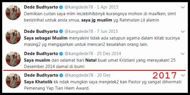 """TERCYDUK! Jejak Digital Beda-beda Pengakuan Agamanya, Akun """"Centrang Biru"""" Kena Hajar Netizen"""