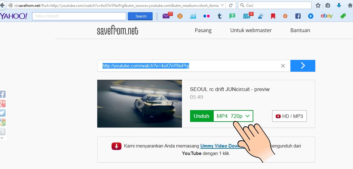 cara download youtube to mp3 tanpa software