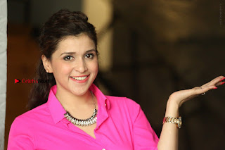 Actress Mannar Chopra in Pink Top and Blue Skirt at Rogue movie Interview  0215.JPG