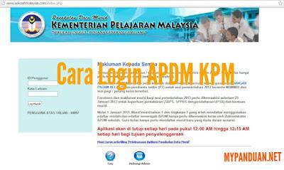 Cara Login APDM KPM