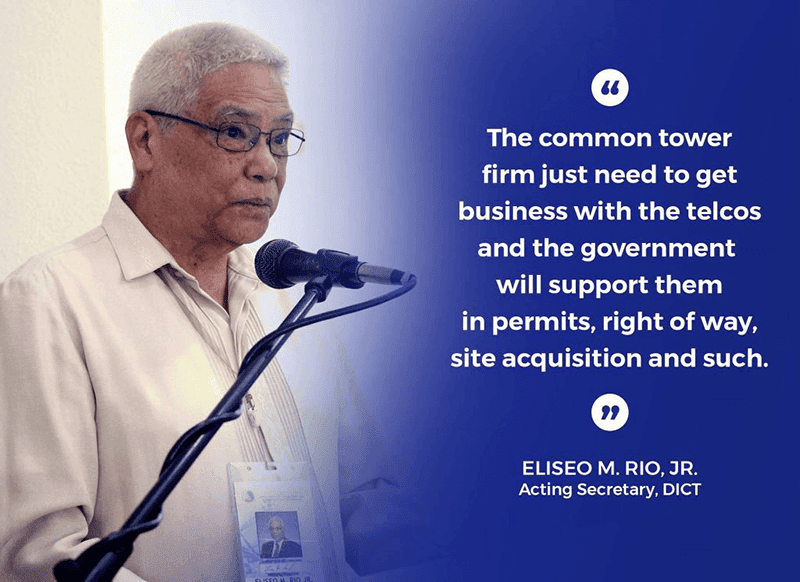 DICT shows full support for tower companies, assures public they do not pose cyber threats