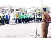 Sekda Lepas Wakil Kota Bima Pada Lomba Marching Band tingkat Provinsi NTB