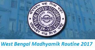 West Bengal Madhyamik Routine