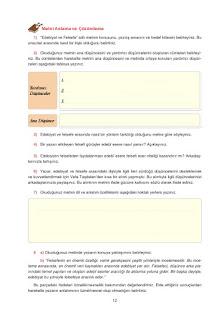 12. Sınıf Türk Dili ve Edebiyatı Dersdestek Yayınları Sayfa 12