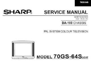 Skema TV SHARP 70GS-64S Chassis DA-100