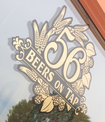 56 beers on tap