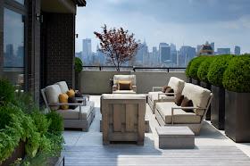 Diseño De Interiores Terraza Descubierta Estilo Rustico