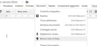 keep in google documenti