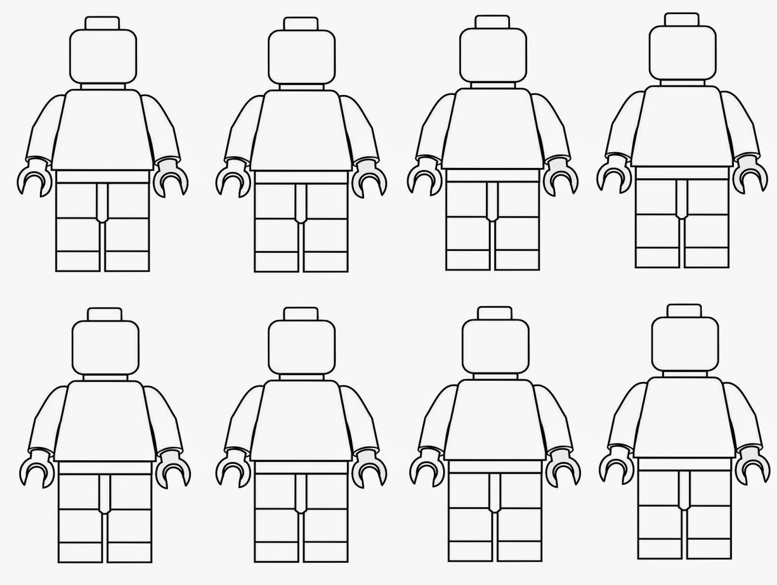 Spring time treats lego men coloring page for Lego figure coloring page