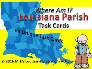 https://www.teacherspayteachers.com/Product/LOUISIANA-Parish-Task-Cards-2544834