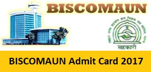 BISCOMAUN Admit Card 2017