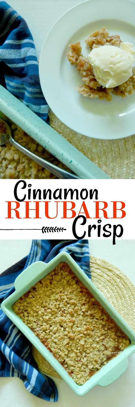 cinnamon rhubarb crisp