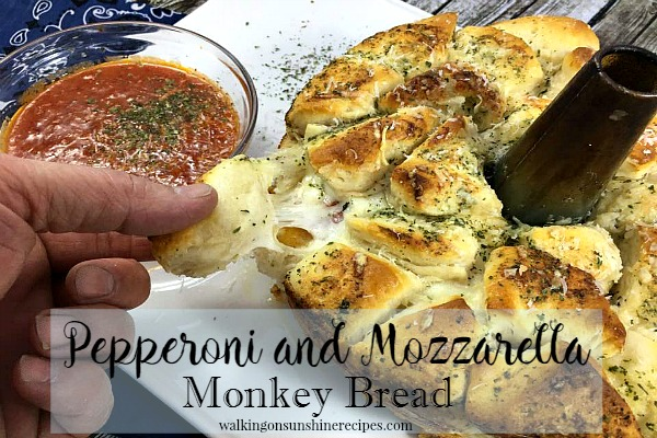Recipe: Pepperoni Mozzarella Monkey Bread from Walking on Sunshine
