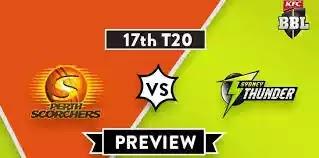 Sydney Thunder v Perth Scorchers 17th T20 Live Stream