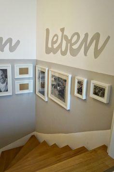 Wandgestaltung treppenhaus bilder  Kreativ Wandgestaltung Treppenhaus Einfamilienhaus ...