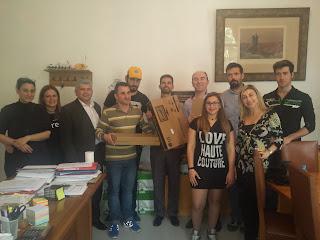 Παράδοση δωρεάς για το Εργαστήρι Πληροφορικής της Σχολής Τυφλών Θεσσαλονίκη