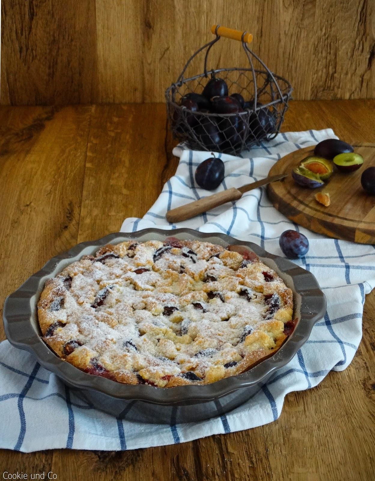 Rezept Zwetschgenkuchen Rührteig schneller zwetschgenkuchen mit streuseln cookie und co