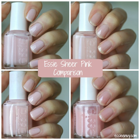 It S Been A Hot Minute Since I Have Done Comparison Post And M Pretty Sure Readers Asked Me To Compare Essie Sheer Pinks Looooooooong Time Ago