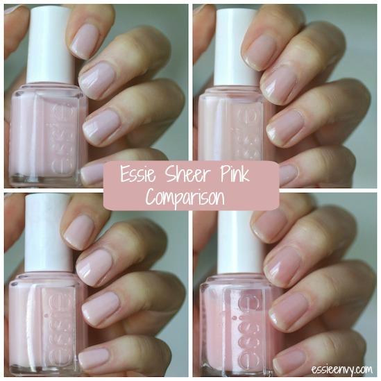 Essie Sheer Pink Comparison  Mademoiselle, Vanity Fairest, Sugar