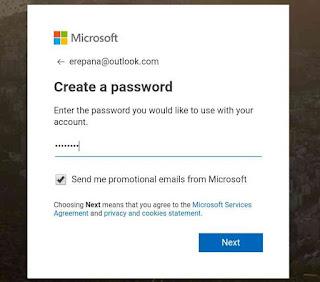 Masukkan password yang kuat