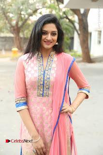 Actress Vimala Raman Stills in Beautiful Pink Salwar Kameez at (ONV) Om Namo Venkatesaya Press Meet  0052.JPG