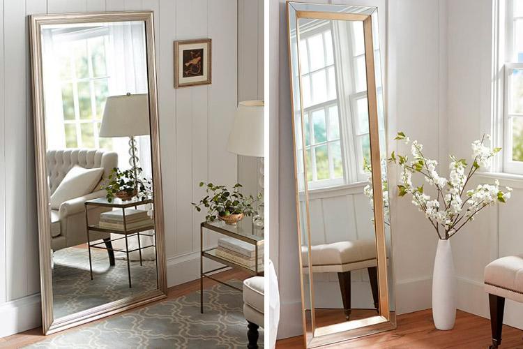 Marzua c mo decorar con espejos apoyados en el suelo for Espejos decorativos para salon
