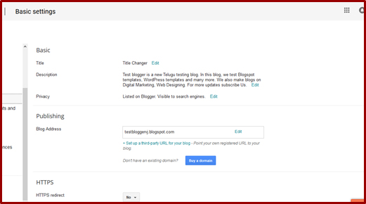 What are the important setting to change in Blogger Blog | Blogger VJ
