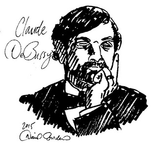 sketch of Claude DeBussy (c) 2015 by David Borden