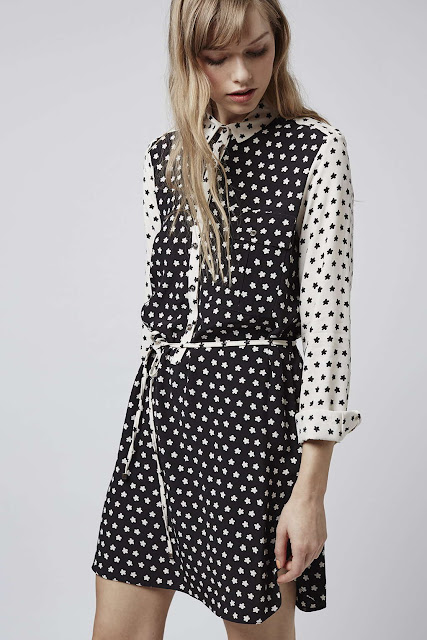 star print shirt dress,