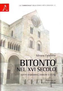 Copertina Bitonto nel XVI secolo Silvana Calabrese demografia