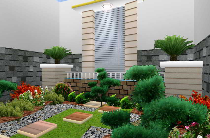 Gambar Taman Sederhana Minimalis Dalam Rumah