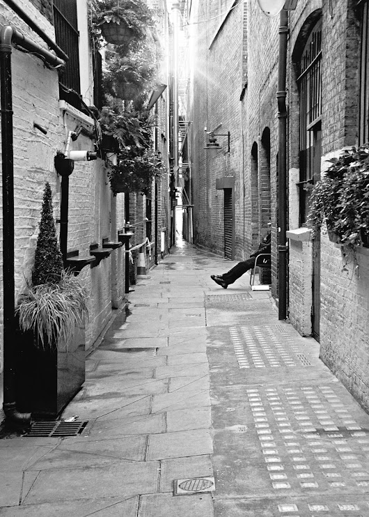 The alley...