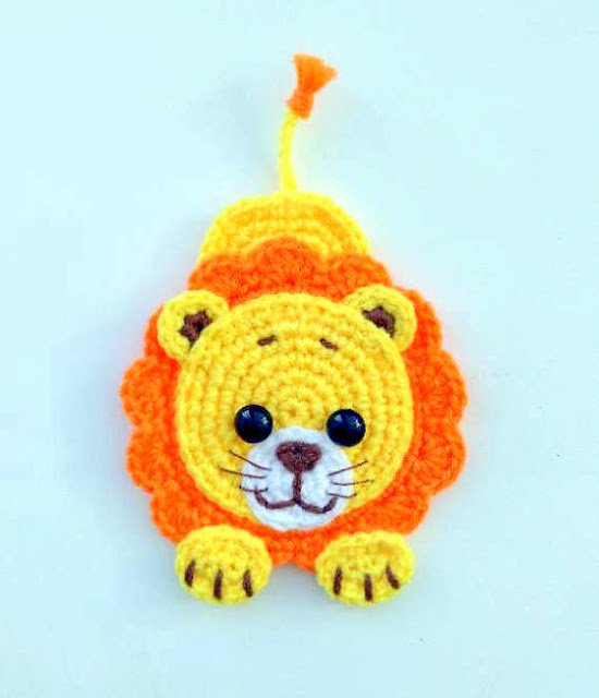 lion applique crochet pattern