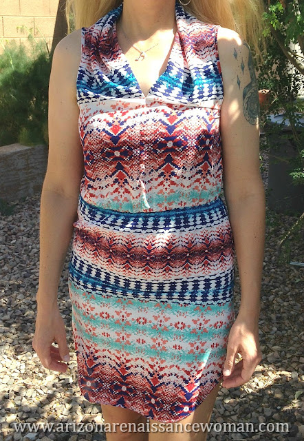Renee C Abstract Print Dress - Golden Tote Review - April 2016