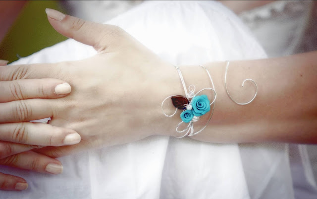 Bracelet mariage boheme romantique