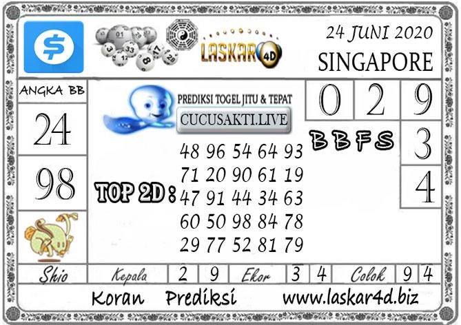 Prediksi Togel SINGAPORE LASKAR4D 24 JUNI 2020