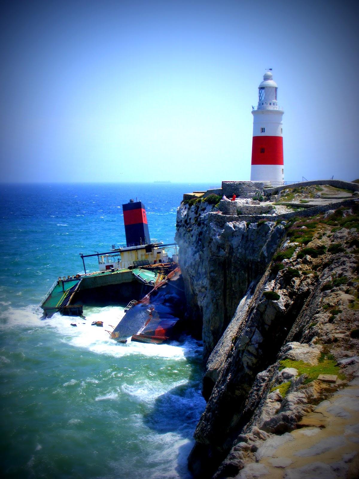 Sea Slug and the Turtle: Gibraltar Lighthouse and Shipwreck
