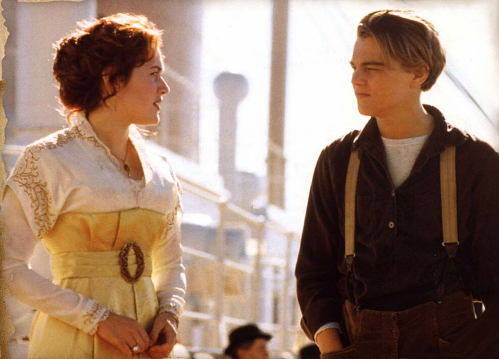 Enchanted serenity of period films titanic 1997 - Jack and rose pics ...