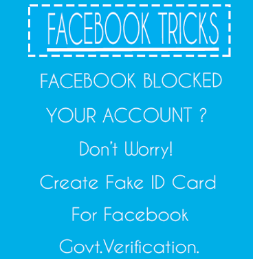 How to Create Fake Government ID Proof to Unblock Facebook Account 2017 Tutorials in Hindi