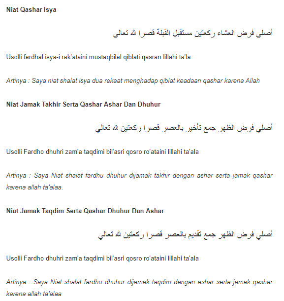 Lengkap Niat Dan Cara Sholat Jamak Qashar Situs Islami