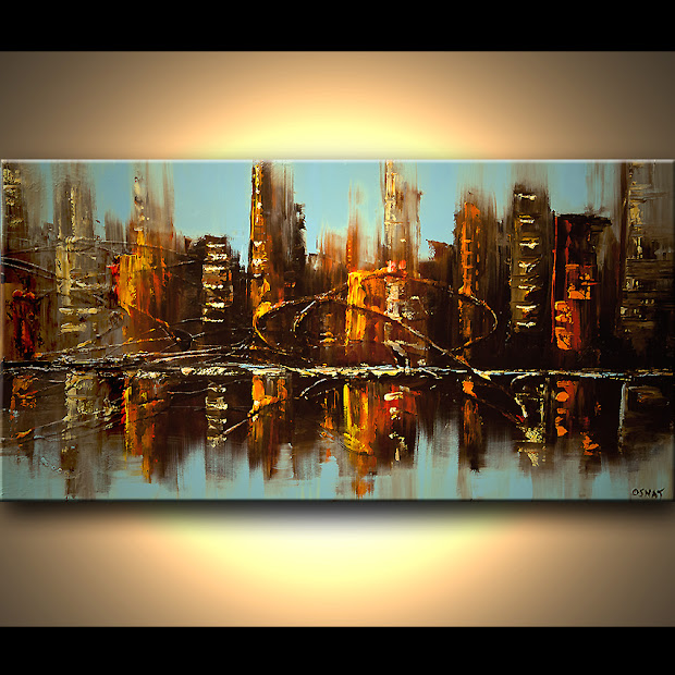 Cityscapes Abstract Art Paintings