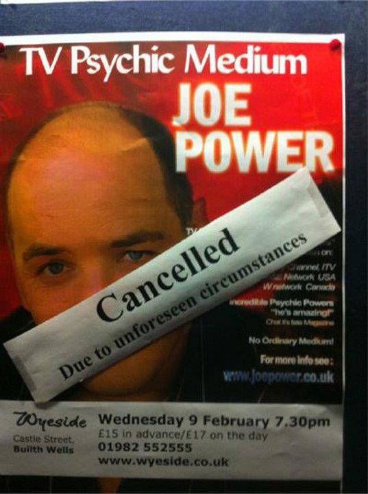 Funny Psychic Medium Poster Show Cancelled Image