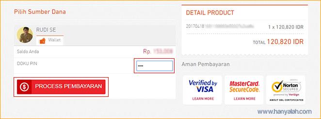 Verifikasi PIN DOKU untuk pembelian di DOKU